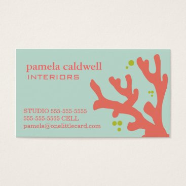 Professional Business Coral Reef Business Card