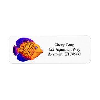 Coral Reef Chevron Tang Customizable Label