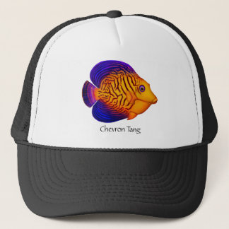 Coral Reef Chevron Tang Fish Hat