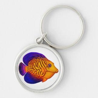 Coral Reef Chevron Tang Fish Keychain