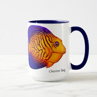 Coral Reef Chevron Tang Fish Mug