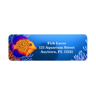 Coral Reef Chevron Tang Label