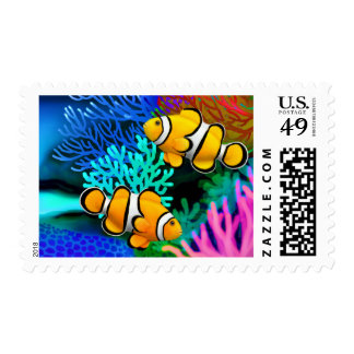 Coral Reef Clown Anenome Fish Postage