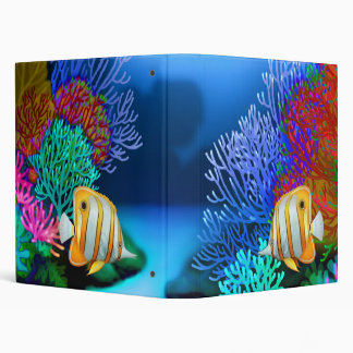 Coral Reef Copperband Butterfly Fish Binder