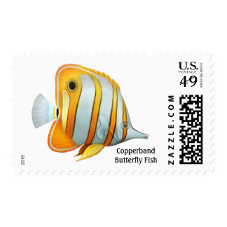 Coral Reef Copperband Butterfly Fish Postage