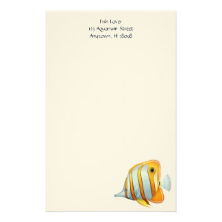 Coral Reef Copperband Butterfly Fish Stationery