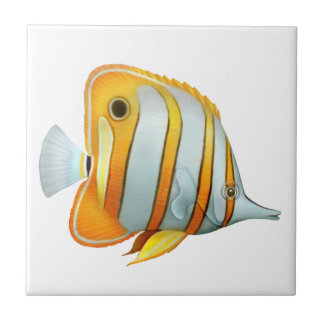 Coral Reef Copperband Butterfly Fish Tile