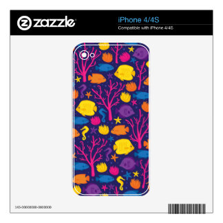 Coral Reef Crew Skin For iPhone 4