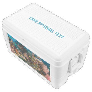 Coral Reef custom text cooler