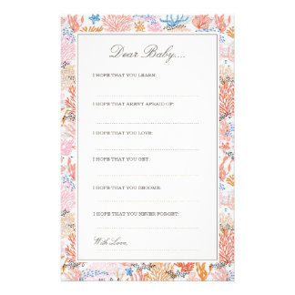 Coral Reef   Dear Baby Cards
