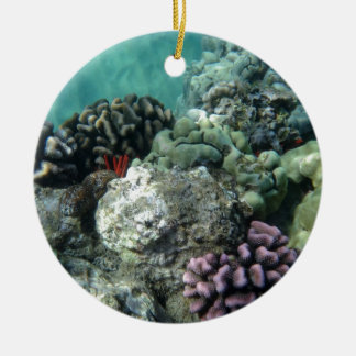 Coral reef Double-Sided ceramic round christmas ornament