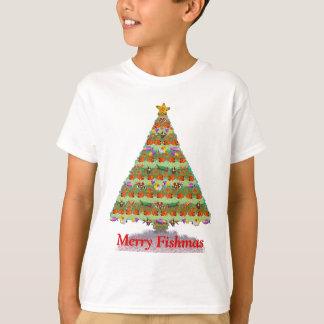 Coral Reef Fish Christmas Tree Kids Shirt