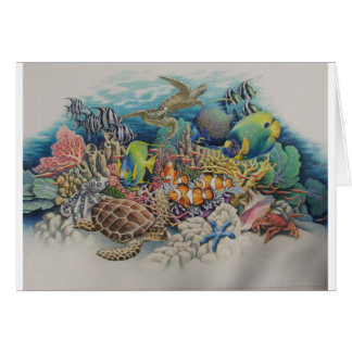 Coral Reef Fish in Symphony Card