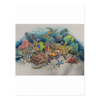 Coral Reef Fish in Symphony Postcard