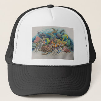 Coral Reef Fish in Symphony Trucker Hat