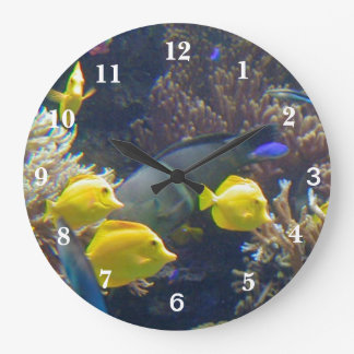 Coral Reef Fish Large Clock