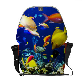 coral reef fish messanger tote bag