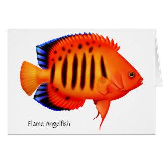 Coral Reef Flame Angelfish Card