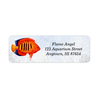 Coral Reef Flame Angelfish Customizable Label