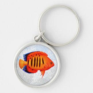 Coral Reef Flame Angelfish Keychain