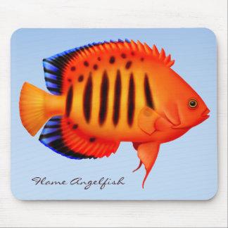 Coral Reef Flame Angelfish Mousepad