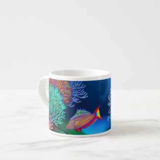 Coral Reef Flasher Wrasse Fish Espresso Mug