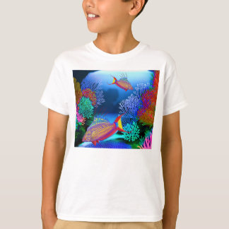 Coral Reef Flasher Wrasse Fish Kids T-Shirt