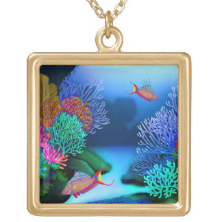 Coral Reef Flasher Wrasse Fish Necklace