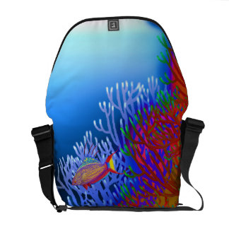 Coral Reef Flasher Wrasse Fish Rickshaw Messenger Courier Bag