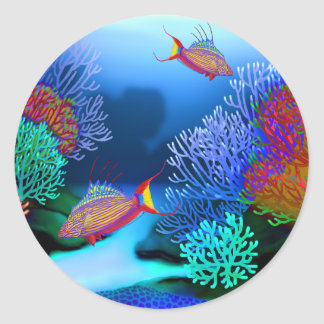 Coral Reef Flasher Wrasse Fish Sticker