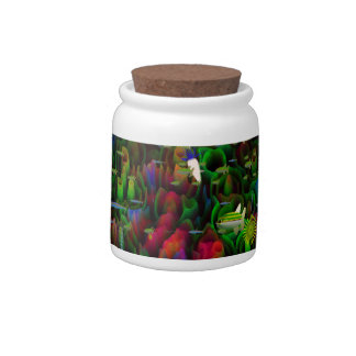 Coral Reef Graphic Design. Fantastic Multicolored Candy Jar