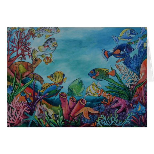 Z Coral Card Coral Reef Greeting Ca...