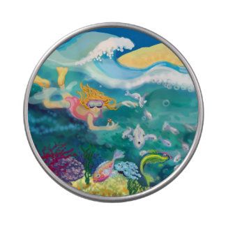 Coral reef holiday jelly belly candy tins