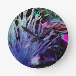 CORAL REEF IN BLUE,  WALL CLOCK
