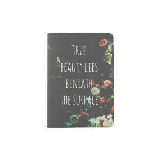 Coral Reef Inspirational Quote Passport Holder