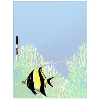 Coral Reef Moorish Idol Fish Dry Erase Board