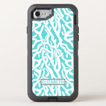 Beach Themed Coral Reef Nautical Beach Aqua Blue White | OtterBox Defender iPhone 7 Case