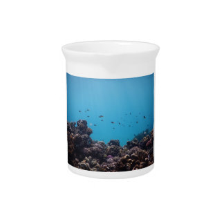 Coral Reef of Pacific Ocean Beverage Pitchers