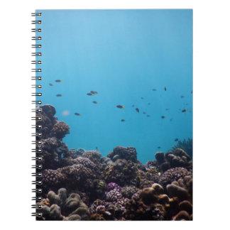 Coral Reef of Pacific Ocean Spiral Notebook