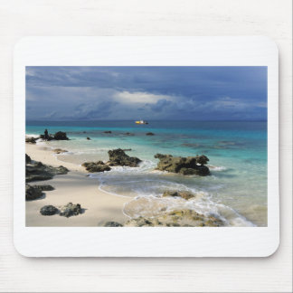 Coral reef paradise tropical island mouse pad