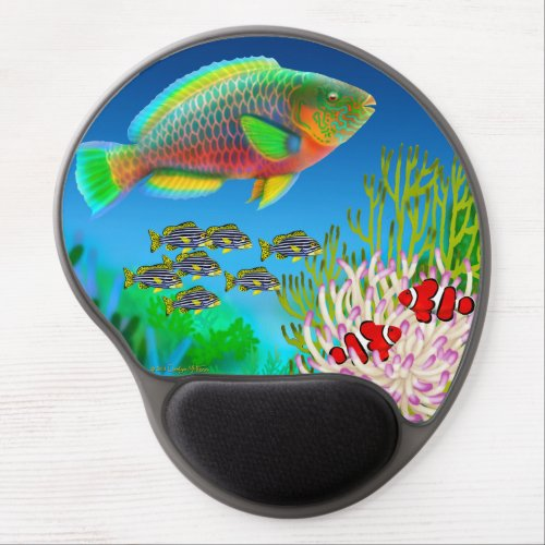 Coral Reef Parrotfish Gel Mousepad