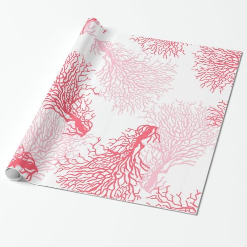 Coral reef pattern wrapping paper