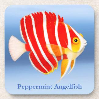 Coral Reef Peppermint Angelfish Cork Coaster