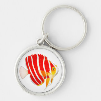 Coral Reef Peppermint Angelfish Keychain