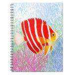 Coral Reef Peppermint Angelfish Notebook