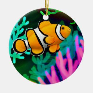 Coral Reef Percula Clown Anenome Fish Ornament
