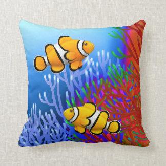 Coral Reef Percula Clownfish Pillows