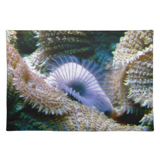 Coral reef cloth placemat