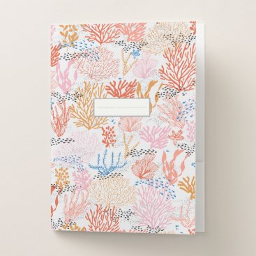 Beach Themed Coral Reef Pocket Folder
