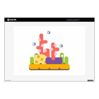Coral Reef Primitive Style Decal For Laptop
